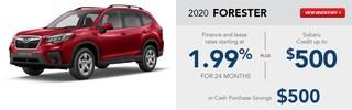 2020 Subaru Forester February Specials