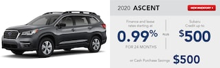 2020 Subaru Ascent February Specials