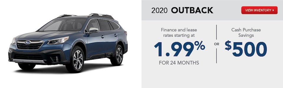 2020 Subaru Outback February Specials