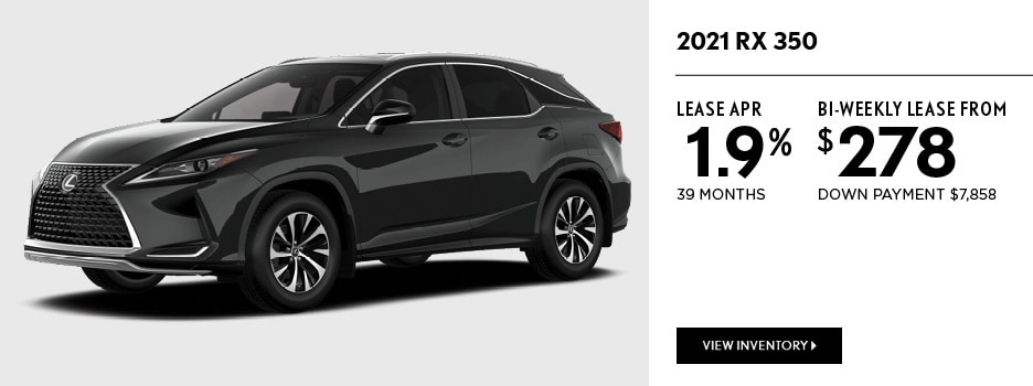 2021 RX 350 February Offer