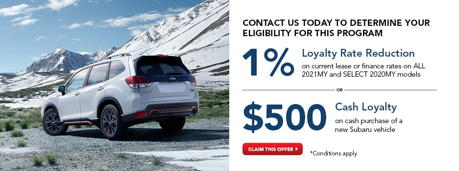 Subaru Loyalty Bonus