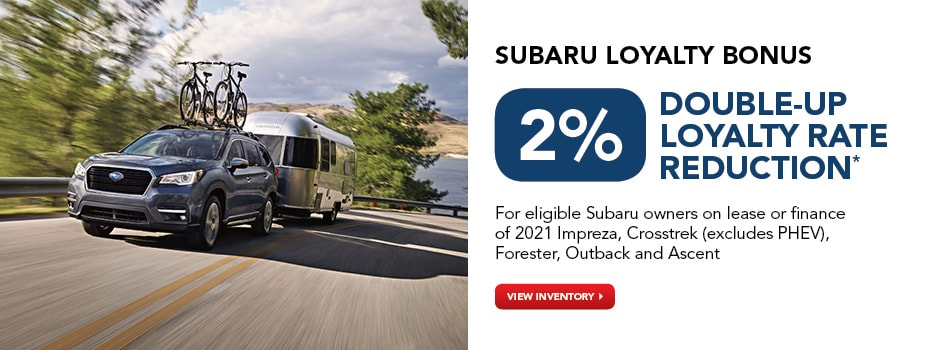 Up to 2% Double-Up Loyalty Rate Reduction*