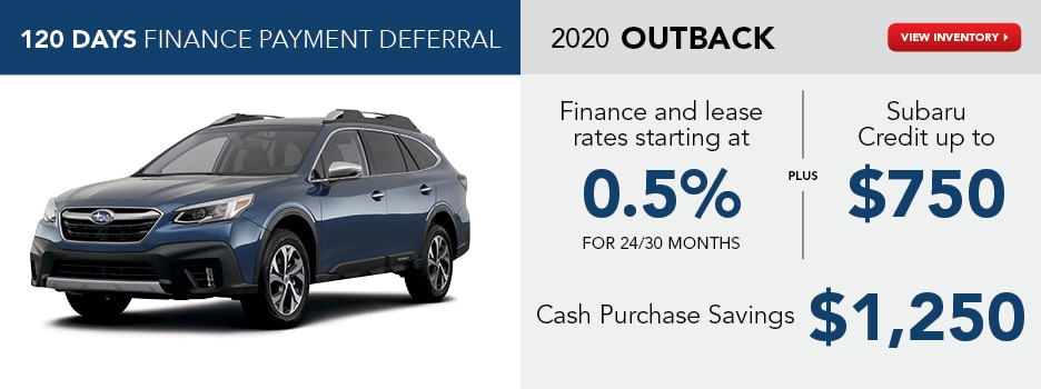 2020 Outback August Offer