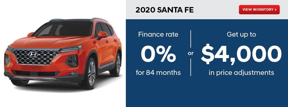 2020 Santa Fe October Offer