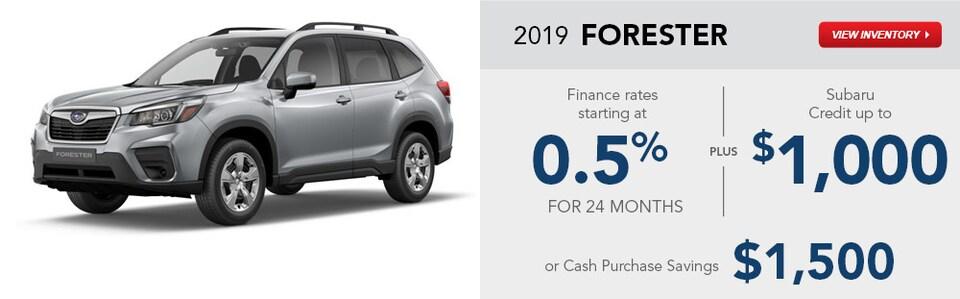 2019 Subaru Forester January Specials