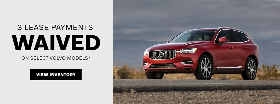 3 Lease Payments Waiver on Select Volvo Models