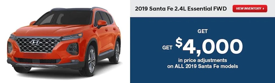 Price Adjustments on All 2019 Santa Fe Models