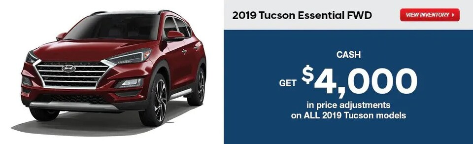 Price Adjustments on All 2019 Tucson Models