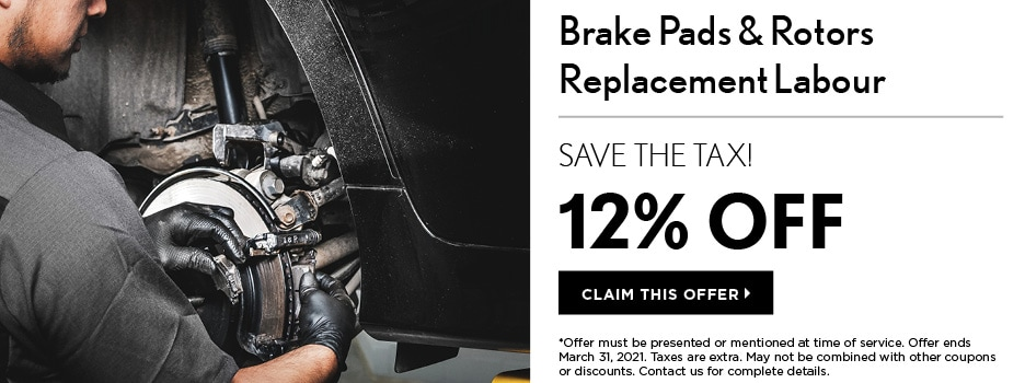Brake Pads & Rotors Replacement Labour