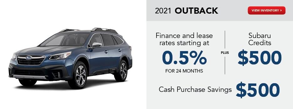 2021 Outback April Offer