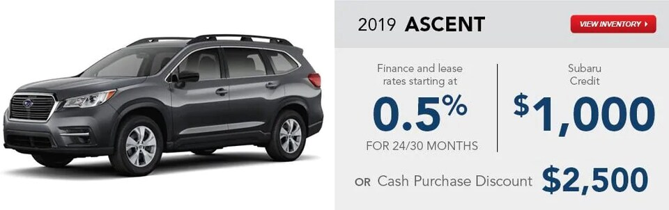 2019 Ascent Special Finance and Lease Rates