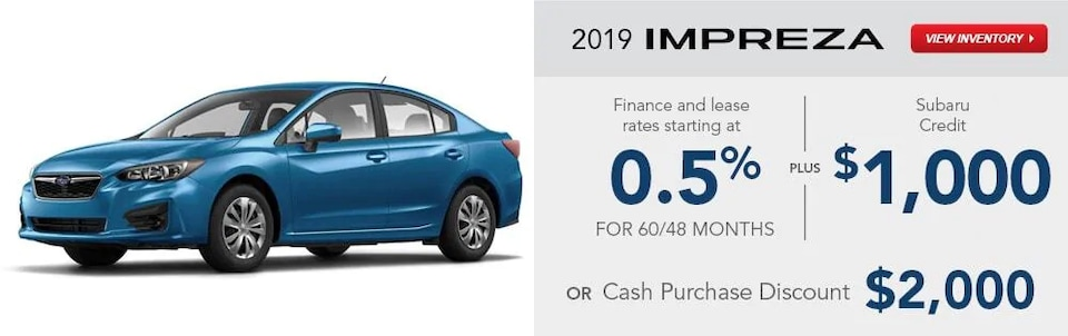 2019 Impreza Special Finance and Lease Rates