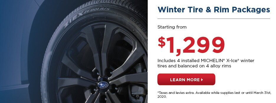 Winter Tire & Rim Packages Starting from $1,299