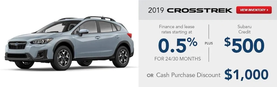 2019 Crosstrek Special Finance and Lease Rates