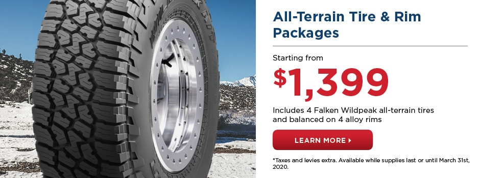 All-Terrain Tire & Rim Packages Starting from $1,399