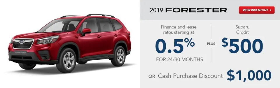 2019 Forester Special Finance and Lease Rates