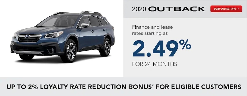 2020 Outback Special Finance and Lease Rates