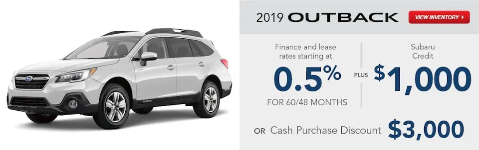2019 Outback Special Finance and Lease Rates