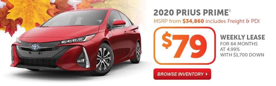 2020 Prius Prime Fall Into Savings Event