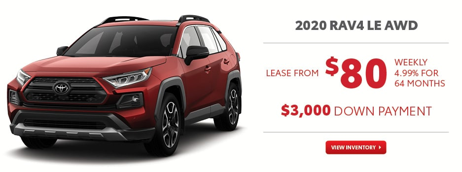 2020 RAV4 LE AWD November Offer