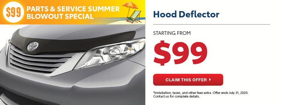 $99 Hood Deflector Summer Blowout Special