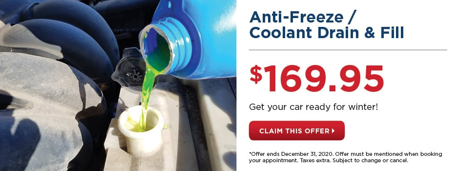 ANTI-FREEZE / COOLANT DRAIN & FILL SPECIAL