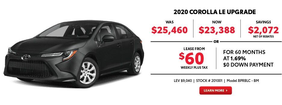 2020 Corolla LE Upgrade