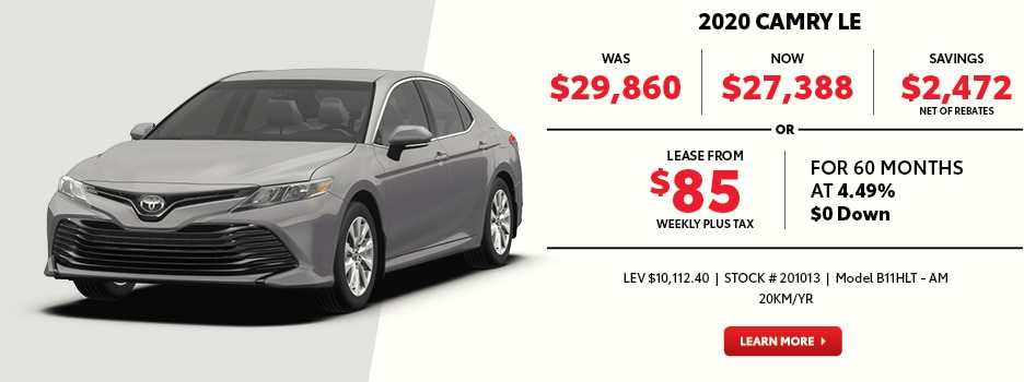 2020 Camry LE Special Offer