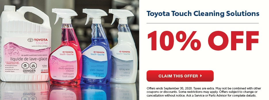 Toyota Touch Cleaning Solutions September Special