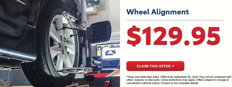 Wheel Alignment September Special