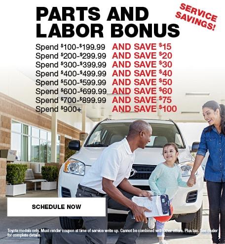 Parts and Labor Bonus