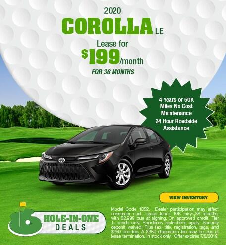 June 2020 Toyota Corolla