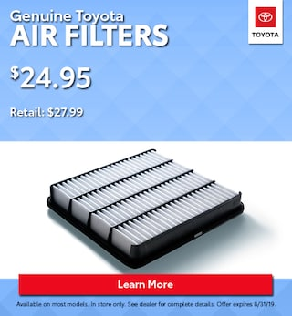 Genuine Toyota Air Filters
