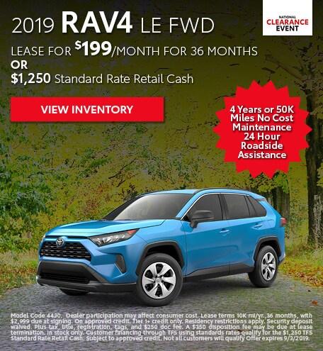 August 2019 Toyota RAV4