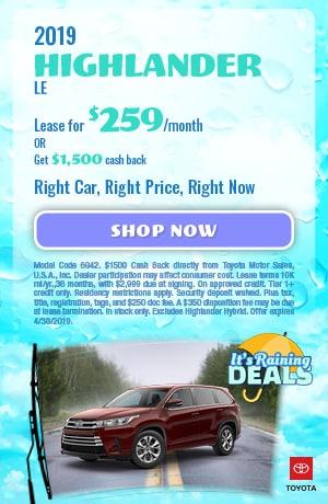 Toyota Highlander Lease Special