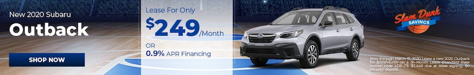 New 2020 Subaru Outback - March Special