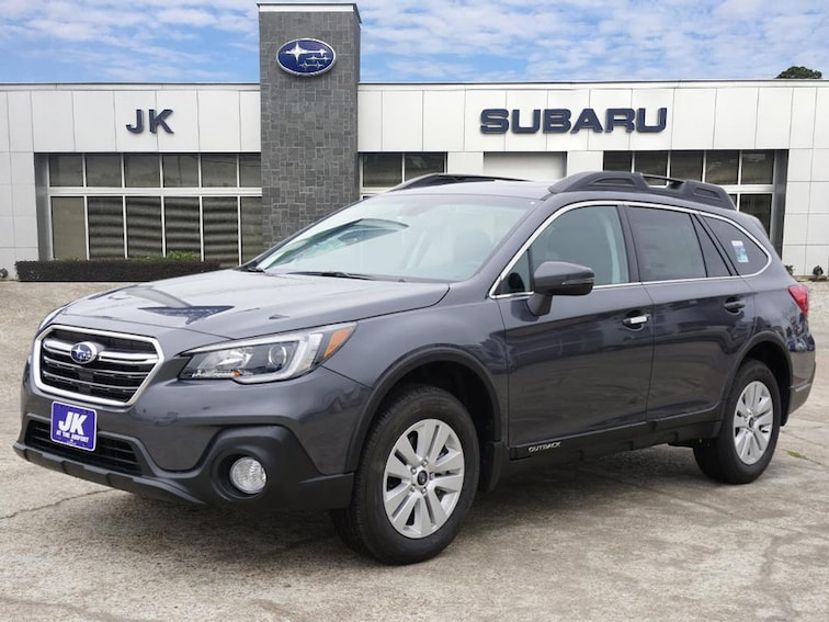 New 2018 Subaru Outback 2.5i Premium with EyeSight, Blind Spot Detection, Rear Cross Traffic Alert, Power Rear Gate, High Beam Assist, Moonroof, Navigation, and Starlink SUV For Sale Nederland, TX