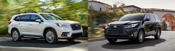 New Subaru Ascent Vs Toyota Highlander Suv Comparison