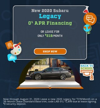 August - 2020 Subaru Legacy