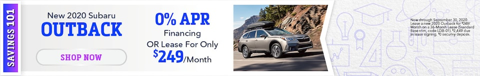 September - 2020 Subaru Outback