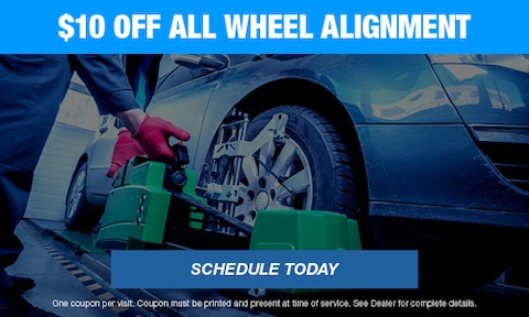 $10 OFF All Wheel Alingment