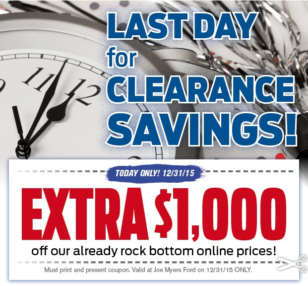 Last Chance End Of Year Clearance Joe Myers Ford