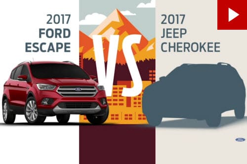 Ford Escape vs Jeep Cherokee video