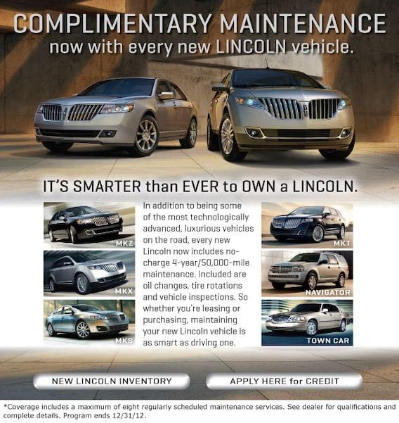 Luxury Cars Of Gwinnett >> Lincoln Maintenance Plan Gwinnett Place Ford