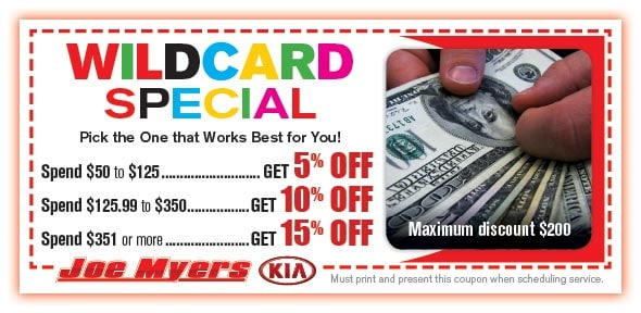 Wildcard Service Special Coupon, Houston, TX Automotive Service Special