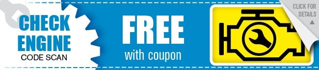 Free Check Engine Light Coupon, Houston