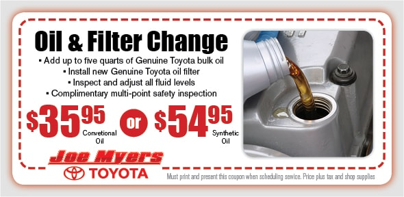 oil change special houston | toyota service center tx