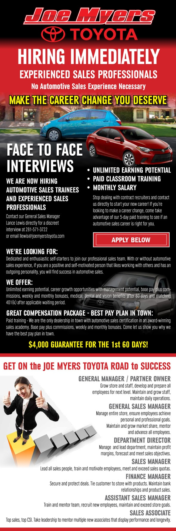 joe myers toyota jobs | dealership careers | in houston, near cypress tx