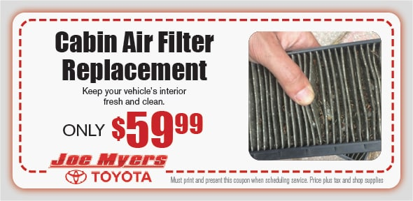 Automotive Cabin Filter Coupon, Houston