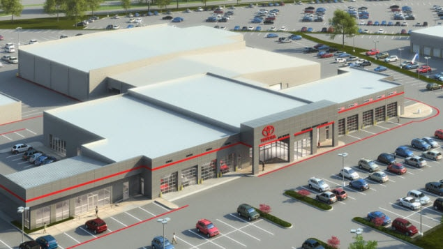 all-new joe myers toyota service facility to open in april